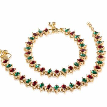 Traditional Gold Plated Kundan Anklets Payal For Girls & Women (A029MG)