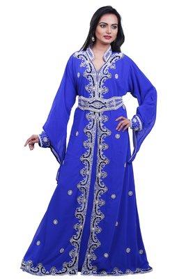 Dubai Kaftan Women Dress Moroccan Caftan Long Farasha Maxi Dress AL103