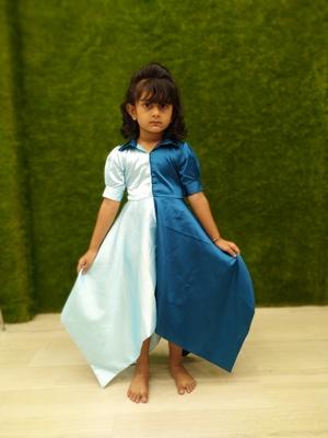 indigo sky girl gown