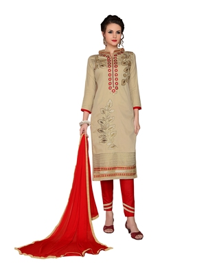 Beigeresham embroidery cotton salwar