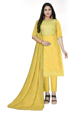 Yellow gotta patti chanderi salwar