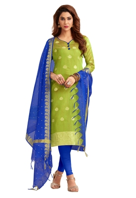 Light-green banarasi banarasi salwar