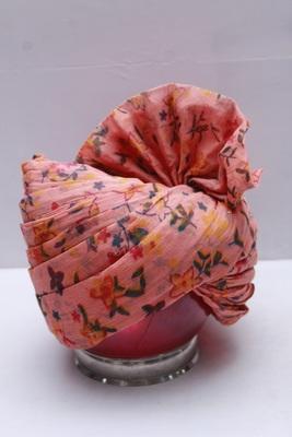 Pink printed cotton men-wedding-dresses