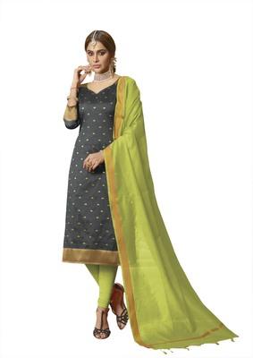 Grey Woven Banarasi Silk Salwar