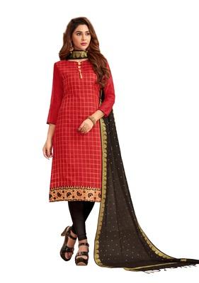 Maroon Woven Banarasi Silk Salwar