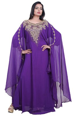 Dubai Kaftan Women Dress Moroccan Caftan Long Farasha Maxi Dress AL106