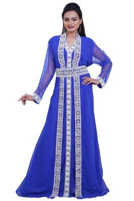 Dubai Kaftan Women Dress Moroccan Caftan Long Farasha Maxi Dress Al111