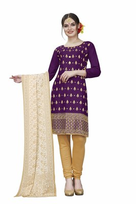 Wine woven cotton salwar