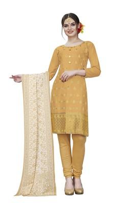 Beige woven cotton salwar