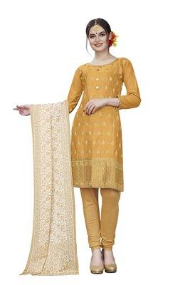 Yellow woven cotton salwar