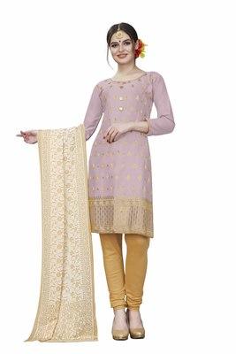 Light-purple woven cotton salwar