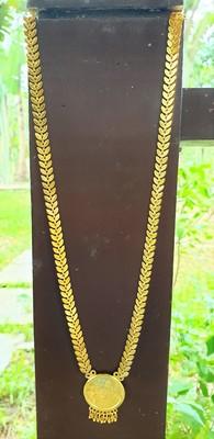 Gold stone studded kundan necklace set