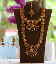 Temple jewellery south indian jewellery necklace set