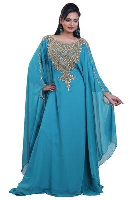 Dubai Kaftan Women Dress Moroccan Caftan Long Farasha Maxi Dress Al113