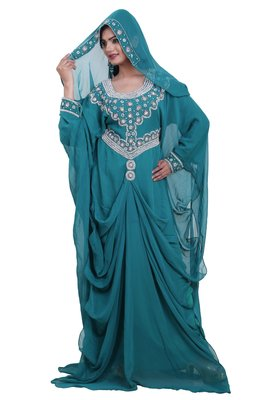 Dubai Kaftan Women Dress Moroccan Caftan Long Farasha Maxi Dress AL114