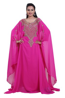 Dubai Kaftan Women Dress Moroccan Caftan Long Farasha Maxi Dress AL118
