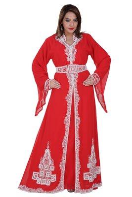 Dubai Kaftan Women Dress Moroccan Caftan Long Farasha Maxi Dress Al126