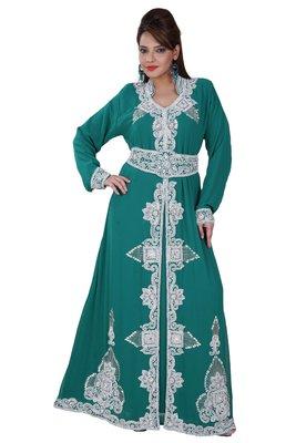 Dubai Kaftan Women Dress Moroccan Caftan Long Farasha Maxi Dress AL137