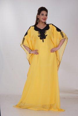 Dubai Kaftan Women Dress Moroccan Caftan Long Farasha Maxi Dress Al148