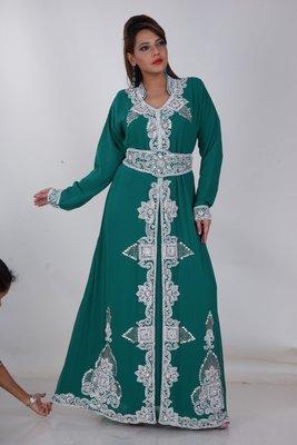 Dubai Kaftan Women Dress Moroccan Caftan Long Farasha Maxi Dress AL155