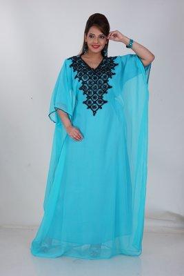 Dubai Kaftan Women Dress Moroccan Caftan Long Farasha Maxi Dress Al156
