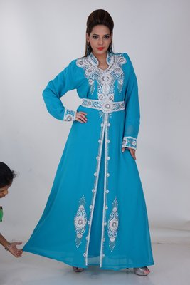 Dubai Kaftan Women Dress Moroccan Caftan Long Farasha Maxi Dress AL157
