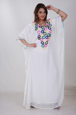 Dubai Kaftan Women Dress Moroccan Caftan Long Farasha Maxi Dress Al158