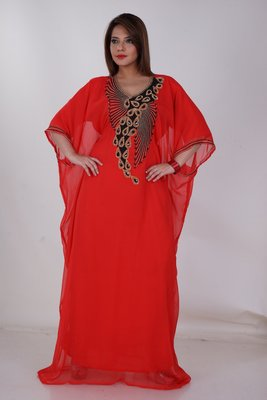 Dubai Kaftan Women Dress Moroccan Caftan Long Farasha Maxi Dress AL161