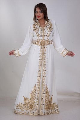 Dubai Kaftan Women Dress Moroccan Caftan Long Farasha Maxi Dress Al162