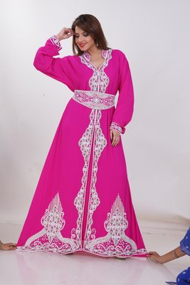 Dubai Kaftan Women Dress Moroccan Caftan Long Farasha Maxi Dress Al171