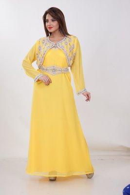 Dubai Kaftan Women Dress Moroccan Caftan Long Farasha Maxi Dress Al172