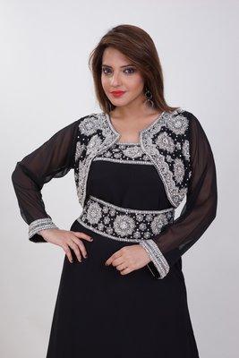 Dubai Kaftan Women Dress Moroccan Caftan Long Farasha Maxi Dress AL176