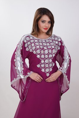Dubai Kaftan Women Dress Moroccan Caftan Long Farasha Maxi Dress Al178