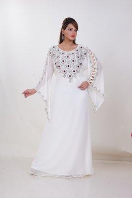 Dubai Kaftan Women Dress Moroccan Caftan Long Farasha Maxi Dress Al185