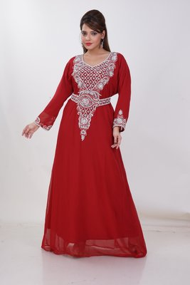 Dubai Kaftan Women Dress Moroccan Caftan Long Farasha Maxi Dress AL187