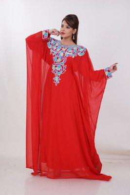 Dubai Kaftan Women Dress Moroccan Caftan Long Farasha Maxi Dress Al191