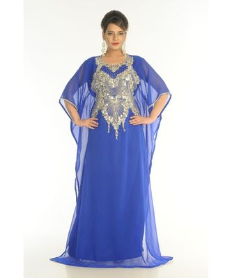 blue georgette embroidered zari_work islamic-kaftans