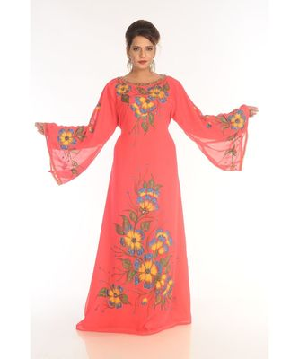 Gajri Georgette Embroidered Zari_Work Islamic-Kaftans