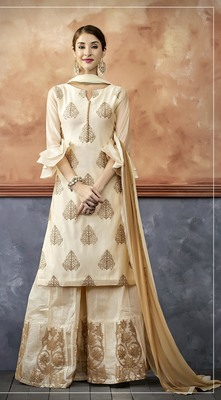 Cream Color Ready made suit