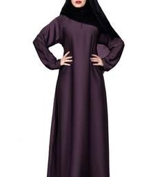Justkartit Light Violet Color Plain Nida Abaya Burka With Chiffon Hijab Scarf For Women