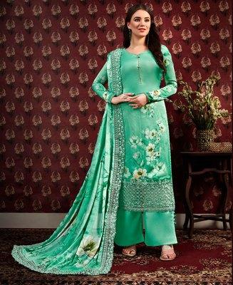 Light-green digital print crepe salwar