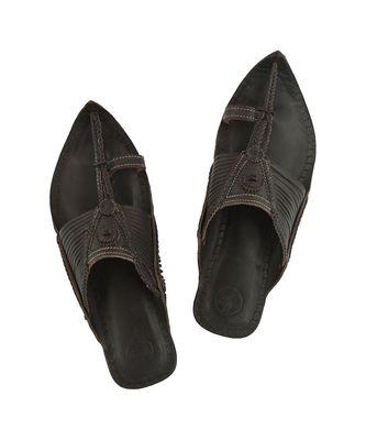 Dark brown Mens Leather Chappal