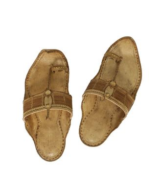 Natural Mens Leather Chappal