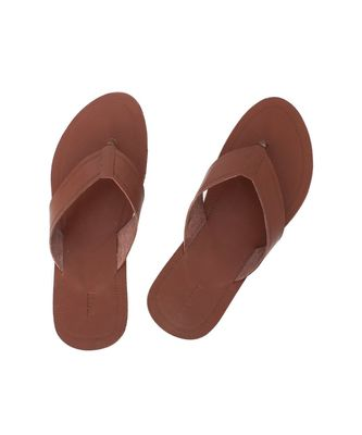 brown Mens Leather Chappal