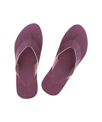 Purple Mens Leather Chappal