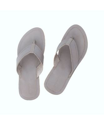 grey Mens Leather Chappal