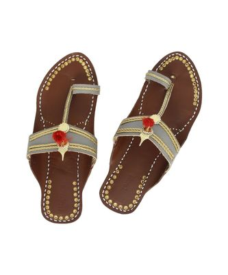 brown Womens Leather Chappal