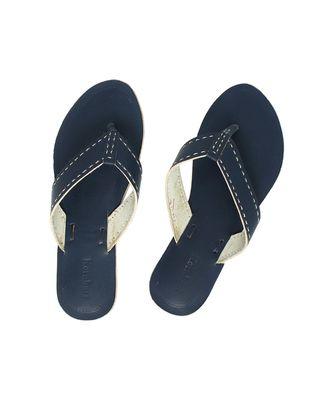 blueWomens Leather Chappal