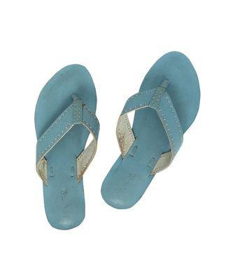 blue Women Flip Flop