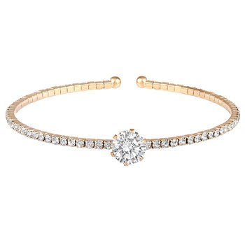 Excellent Party wear Gold Plated CZ Stone Kada for Women